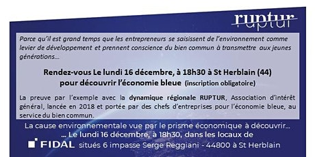Présentation de RUPTUR v/s Blue Economy le 16/12/19 chez FIDAL billets