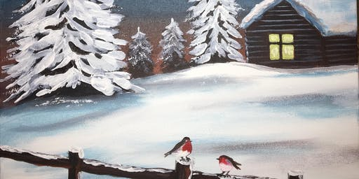Christmas Paint Party Event 'Winter Hideaway' The Oliver Cromwell, St.Ives