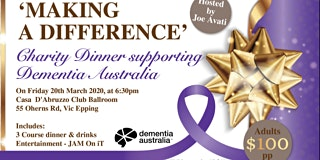 Charity Dinner supporting Dementia Australia