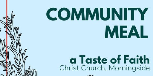 Community Meal: A Taste of Faith at Christ Church Morningside