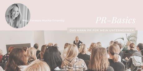 PR-Basics: Was kann PR für mein Unternehmen? Tickets