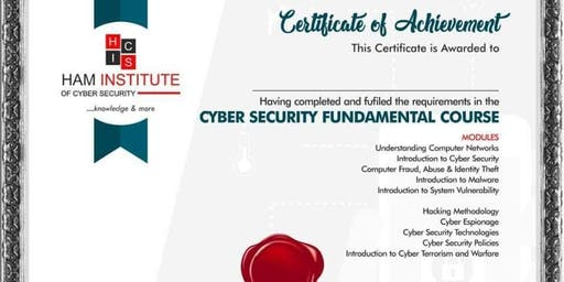 Cyber Security Fundamental Course - Lagos
