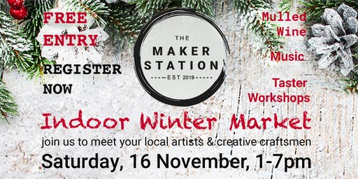 Indoor Winter Market at the Maker Station