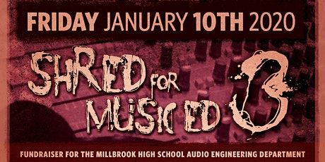 Shred for Music Ed 3 tickets