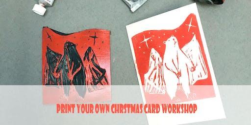 LINOCUT CHRISTMAS CARD WORKSHOP