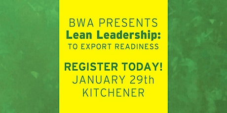 BWA Lean Leadership: To Export Readiness - Level 2 tickets