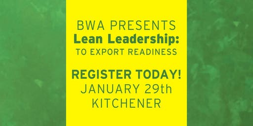 BWA Lean Leadership: To Export Readiness