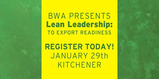 BWA Lean Leadership: To Export Readiness - Level 2