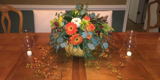 DIY Holiday Craft Workshop by Keep It Greenery ~ Thanksgiving Table Topper ~ Evening