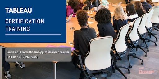 Tableau 4 Days Classroom Training in Dubuque, IA