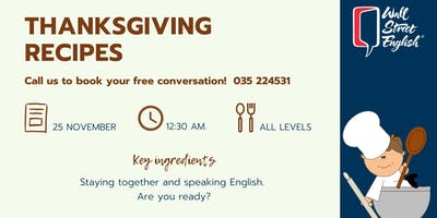 English Conversation: Thanksgiving recipes