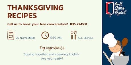 English Conversation: Thanksgiving recipes biglietti