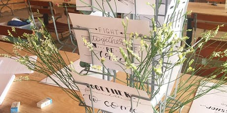 Brush und Hand Lettering Workshop - Zwei Techniken in einem Workshop Tickets