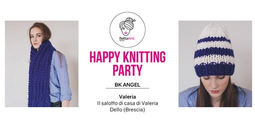 Knitting Party - Alexa Scarf e Striped Beanie - Dello (BS)