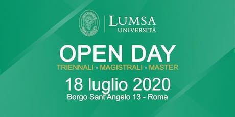 Open Day di Orientamento - Università LUMSA  biglietti