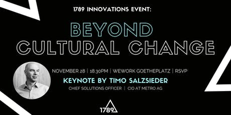 Beyond Cultural Change - The METRO AG Story tickets