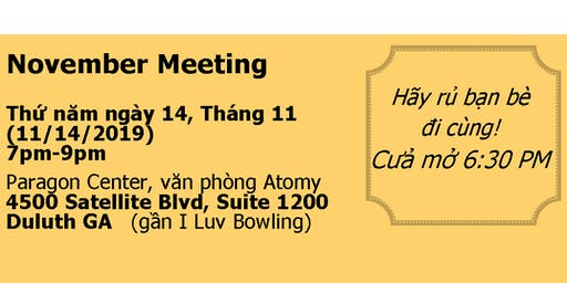 November Meeting- VAMCG