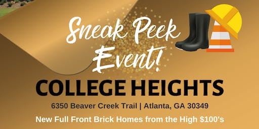 College Heights  Sneak Peek Event!