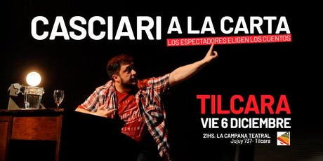 Casciari a la carta — VIE 6 DIC, Tilcara (Jujuy) entradas