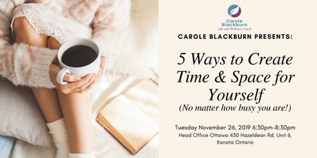 5 Ways to Create Time & Space for Yourself (no matter how busy you are!) tickets