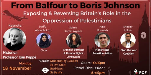 Exposing & Reversing Britain's Role in the Oppression of Palestinians