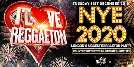 I LOVE REGGAETON 'LONDON'S BIGGEST NEW YEARS EVE REGGAETON PARTY' - 31/12/19 tickets