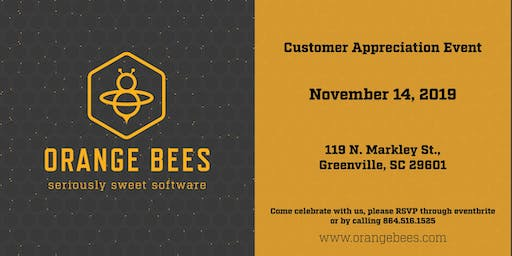 Orange Bees Customer Appreciation Event
