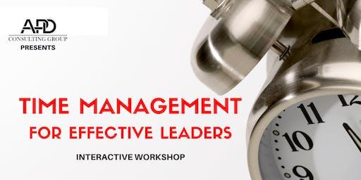 Time Management for Effective Leaders Workshop