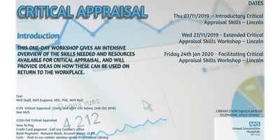 Critical Appraisal course