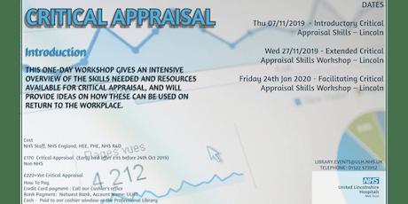 Critical Appraisal course tickets