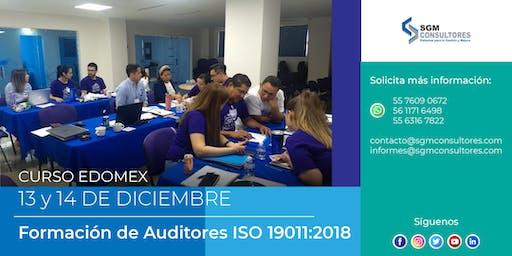 Formación y Actualización de Auditores con base a la Norma ISO 19011:2018 - EDOMEX