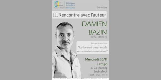 Rencontre avec l'auteur Damien Bazin