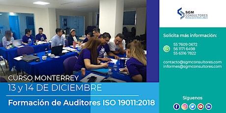 Formación y Actualización de Auditores con base a la Norma ISO 19011:2018 - MTY entradas