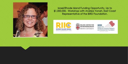 Israel/Rhode Island Funding Opportunity, Up to $1,000,000. Workshop