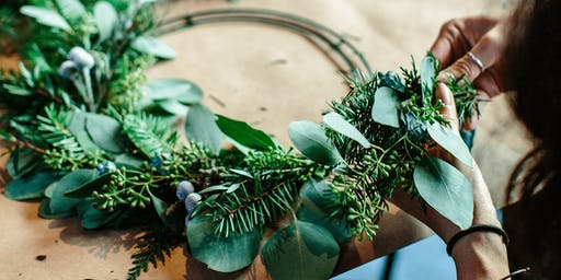 Christmas wreath making - learn, create and take home 17 DEC