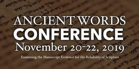 Ancient Words Conference tickets