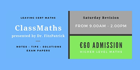Wexford - One Day Intensive Leaving Cert Maths Revision tickets