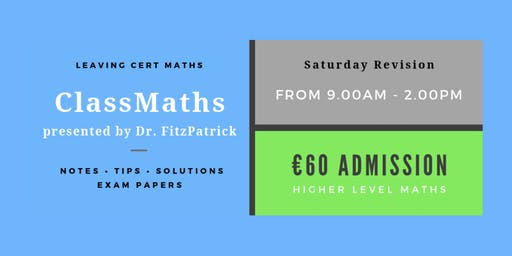 Gorey - One Day Intensive Leaving Cert Maths Revision
