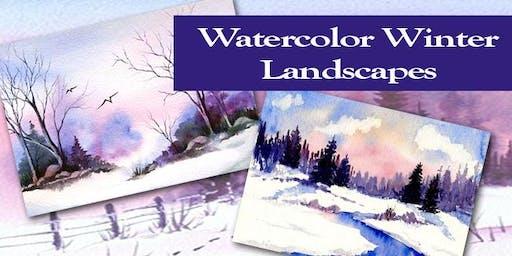 Winter Landscapes- Beginner's Watercolor Class- Kannapolis