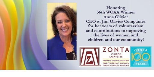 Zonta Club of Lafayette's 36th Woman of Achievement & Scholarship Banquet