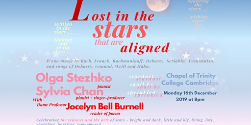 """Lost in the stars ... that are aligned"": a piano and song celebration of stars"