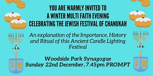A Winter Multi Faith Evening celebrating the Jewish Festival of Chanukah