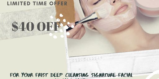$40 off your frist Deep Cleansing Signature Facial  in salt cave