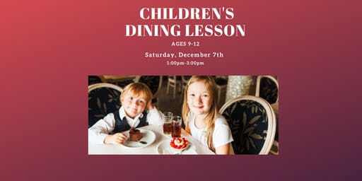 Dining Lesson for Kids