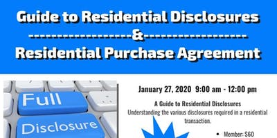 Residential Purchase Agreement (RPA-CA)& Guide to Residential Disclosures