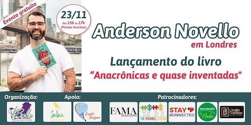 """Sarau literario e lancamento do livro """"Anacronicas e quase inventadas"""" do autor brasileiro Anderson Novello"""