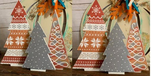 Chalk Couture Christmas Trees
