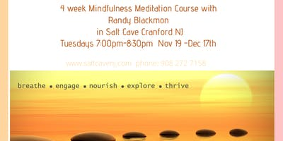 4 week Mindfulness Meditation Course in Salt Cave with Randy Blackmon