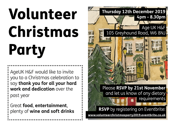 Volunteer Christmas Party 2019 - Age UK H&F image