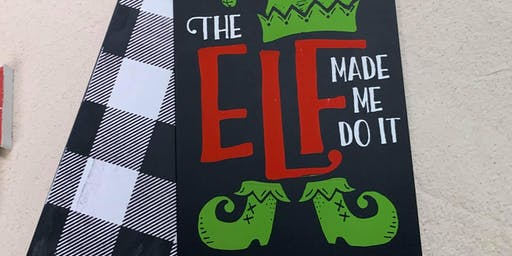 Door Tags - The Elf Made Me Do It